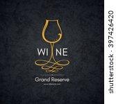 wine list design. vector... | Shutterstock .eps vector #397426420