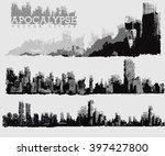 apocalypse vector cities | Shutterstock .eps vector #397427800