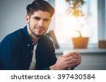 handsome and calm. close up... | Shutterstock . vector #397430584