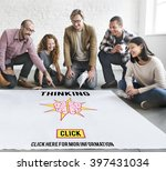 thinking visionary mind... | Shutterstock . vector #397431034