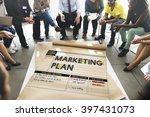 marketing plan strategy... | Shutterstock . vector #397431073