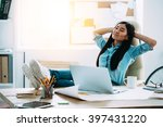 having a nice break. beautiful... | Shutterstock . vector #397431220