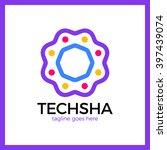 tech circle share logo.... | Shutterstock .eps vector #397439074