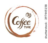coffee ring stain for cafe card ... | Shutterstock .eps vector #397445158