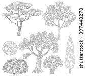 hand drawn set of outlines... | Shutterstock .eps vector #397448278