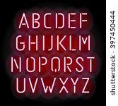 pink neon font  vector... | Shutterstock .eps vector #397450444