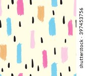 hand drawn seamless ink pattern ... | Shutterstock .eps vector #397453756