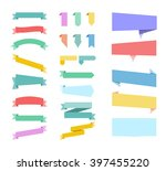 color ribbons set | Shutterstock . vector #397455220