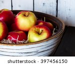 Apples  Wooden Bowl  Selective...