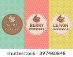 set of chocolate seamless  for... | Shutterstock .eps vector #397460848