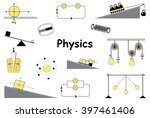 physics and science icons set.... | Shutterstock .eps vector #397461406