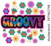 sixties style mod pop art... | Shutterstock .eps vector #397461748