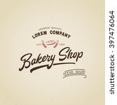 bakery shop logo template... | Shutterstock .eps vector #397476064
