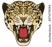 Leopard Portrait. Angry Wild...