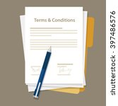 terms and condition of contract ... | Shutterstock .eps vector #397486576