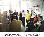 collaboration communication... | Shutterstock . vector #397495600