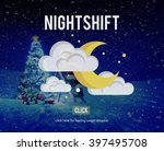 night shift business evening... | Shutterstock . vector #397495708