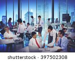 business people meeting... | Shutterstock . vector #397502308