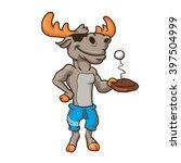 Funny Illustration Of A Moose...