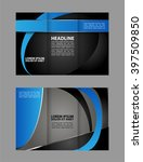 brochure design template.... | Shutterstock .eps vector #397509850