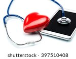 cardiologist  stethoscope ... | Shutterstock . vector #397510408