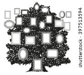 black and white family tree | Shutterstock .eps vector #397513594