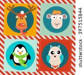 vector background  seamless... | Shutterstock .eps vector #397515844