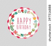 birthday party design  | Shutterstock .eps vector #397516888