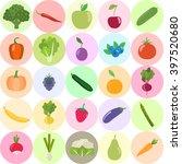 set of fresh healthy vegetables ... | Shutterstock .eps vector #397520680