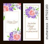 romantic invitation. wedding ... | Shutterstock .eps vector #397522183