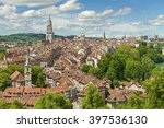 panorama view of berne old town ... | Shutterstock . vector #397536130