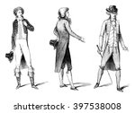 costumes from the beginning of... | Shutterstock . vector #397538008