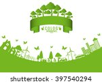 ecology connection  concept... | Shutterstock .eps vector #397540294