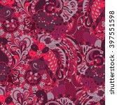 tracery seamless calming...   Shutterstock .eps vector #397551598