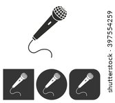microphone   vector icon. black ... | Shutterstock .eps vector #397554259