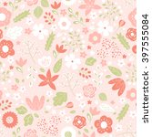 vector seamless floral pattern | Shutterstock .eps vector #397555084