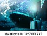 business man and metal... | Shutterstock . vector #397555114