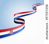 croatian flag wavy abstract...