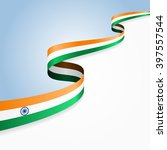 india flag wavy abstract... | Shutterstock .eps vector #397557544