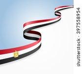 egyptian flag wavy abstract... | Shutterstock .eps vector #397558954