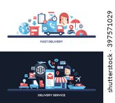delivery service website... | Shutterstock .eps vector #397571029