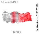 turkey map in geometric...   Shutterstock .eps vector #397575520
