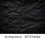 black crumpled paper as a...   Shutterstock . vector #397576066