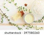 aroma oil  facial cream  sea... | Shutterstock . vector #397580260