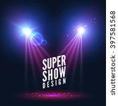 spotlights empty scene.... | Shutterstock .eps vector #397581568