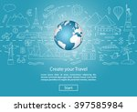 travel to world. road trip.... | Shutterstock .eps vector #397585984