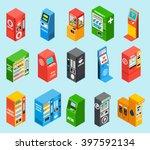 vending dispensing machines... | Shutterstock .eps vector #397592134