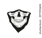 bandana with a skull  hand... | Shutterstock .eps vector #397593604