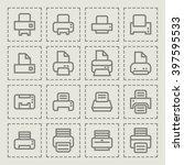 printer symbol | Shutterstock .eps vector #397595533