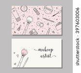 makeup artist business card.... | Shutterstock .eps vector #397603006